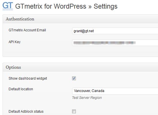 GTmetrix for WordPress Plugin - GTmetrix