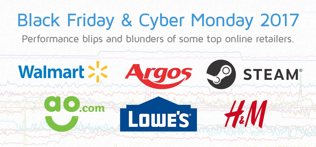 Black Friday Cyber Monday 2017 Performance Blips And Blunders Of Top Online Retailers Gtmetrix