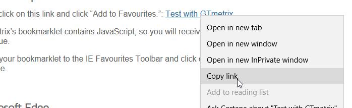 GTmetrix Bookmarklet – Start a Test from your Bookmarks Bar! | GTmetrix