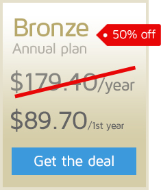 50% off the first year of an Annual GTmetrix PRO Bronze plan