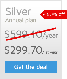 50% off the first year of an Annual GTmetrix PRO Silver plan