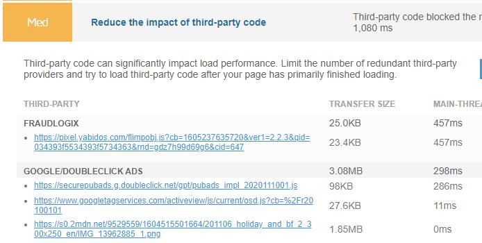 Chế độ xem mở rộng về Giảm tác động của việc kiểm tra mã của bên thứ ba
