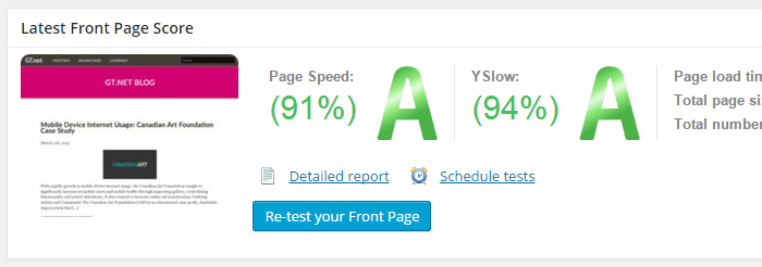 Front Page Report Generated